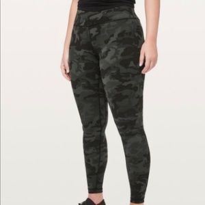 Green camp align pants size 6 28 inch length